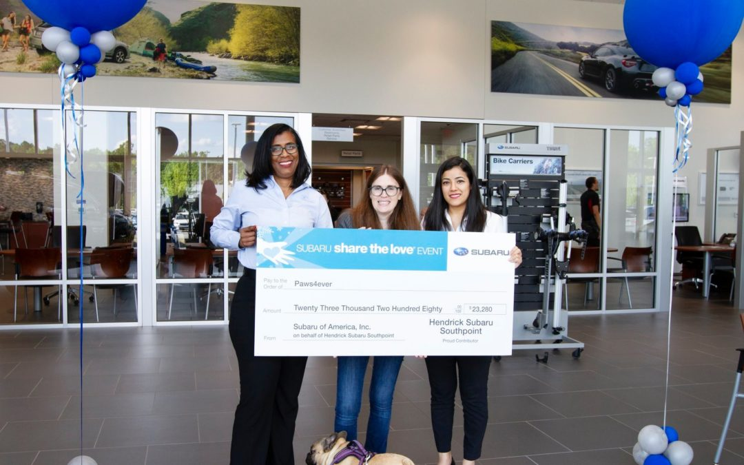 Thank you, Hendrick Subaru Southpoint!